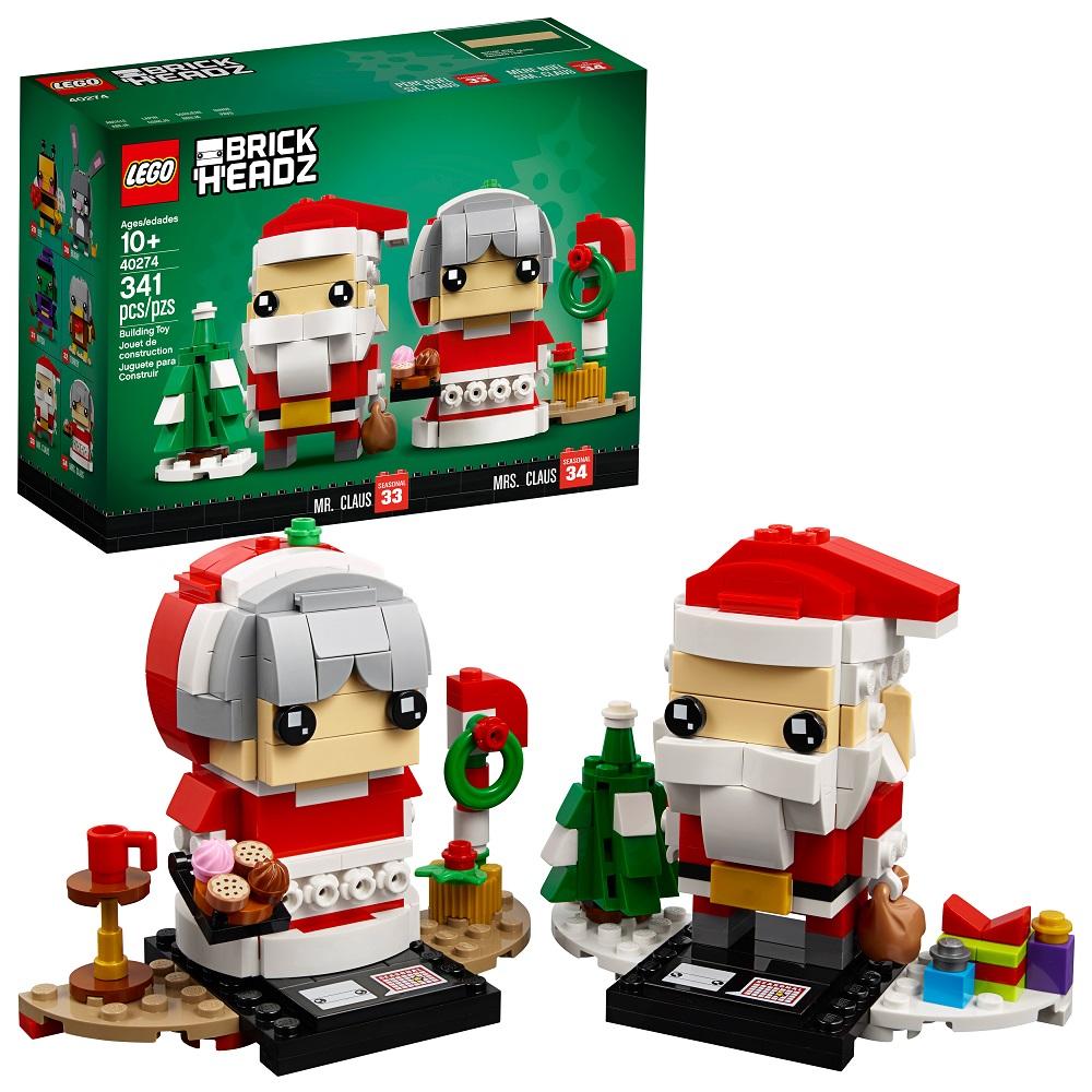 LEGO 乐高 方头仔系列 圣诞老爷爷和老奶奶套装 40274