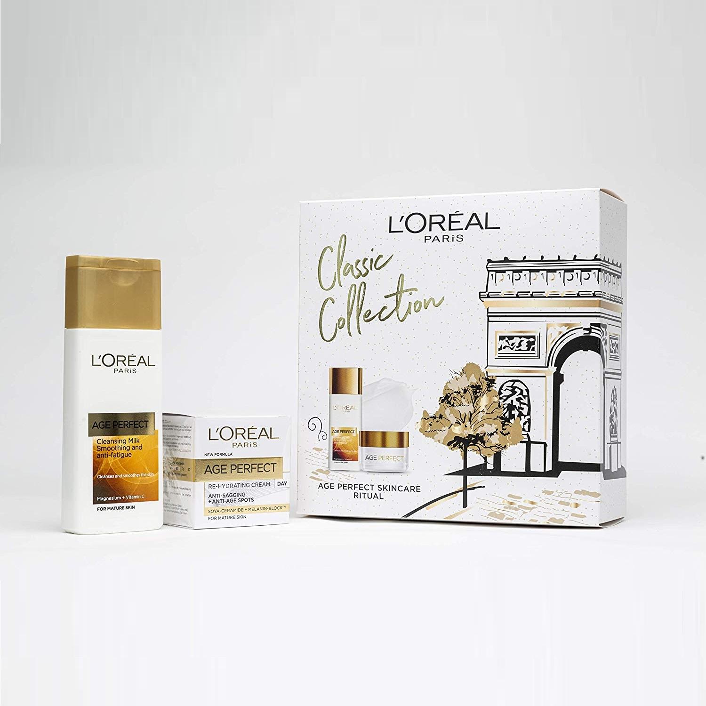 【中亞Prime會員】L'Oreal Paris 巴黎歐萊雅 復顏保濕禮盒裝 潔面乳200ml+日霜50ml