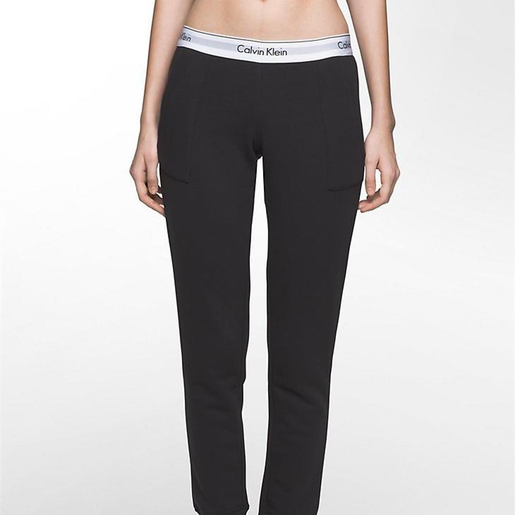 【滿$100額外7.5折】Calvin Klein 經典基礎 Logo 女士運動休閑褲