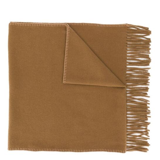 AMI PARIS 棕色羊毛圍巾