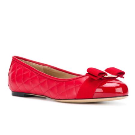 SALVATORE FERRAGAMO 紅色芭蕾舞平底鞋