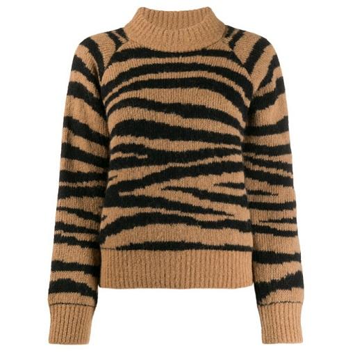 A.P.C. 女款斑馬紋毛衣