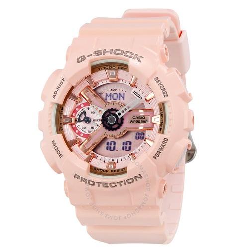 【55專享】補貨!Casio 卡西歐 G-Shock 系列 夜跑精靈 淡粉色運動腕表 GMAS110MP-4A1