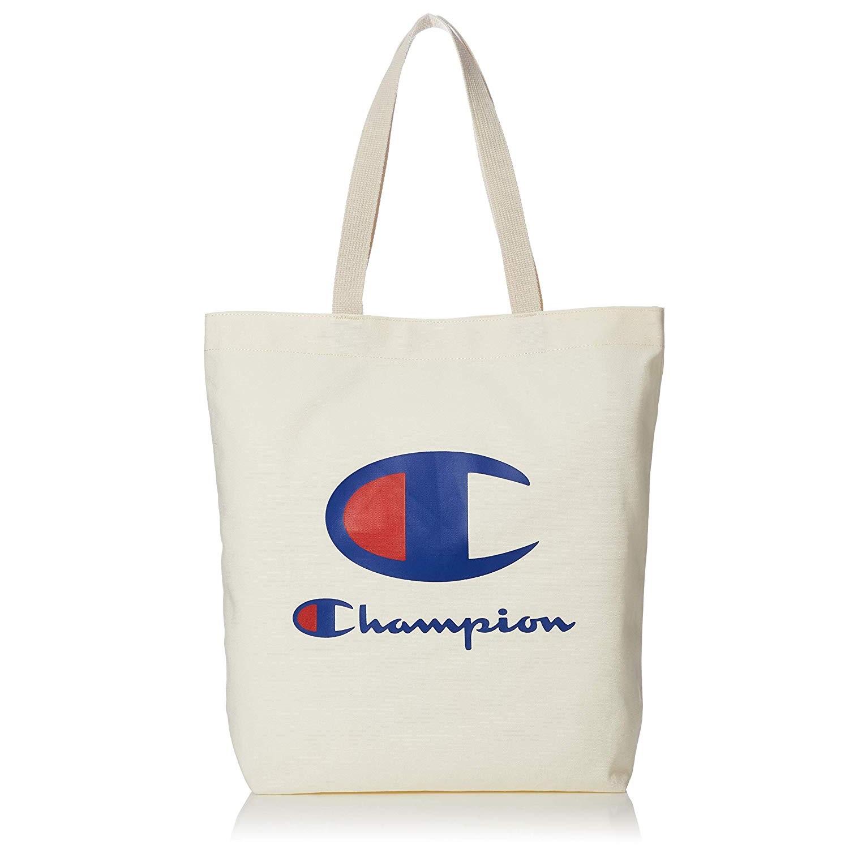 低價!【中亞Prime會員】Champion 冠軍 日版大LOGO帆布包/帆布袋