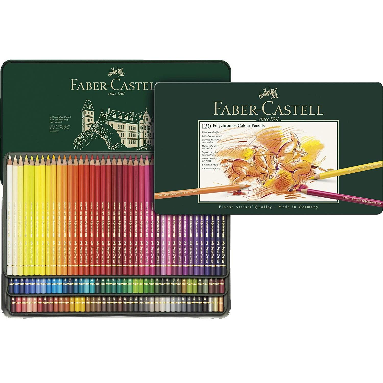 【中亞Prime會員】Faber Castell 輝柏嘉 110011 炫彩彩色鉛筆 120色 金屬盒裝