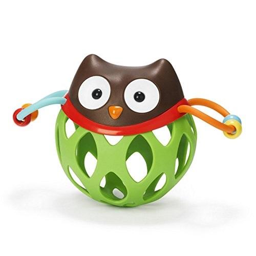 滿¥354減¥70!【中亞Prime會員】Skip Hop 寶寶手抓球牙膠手搖鈴玩具 貓頭鷹款
