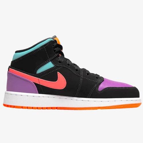 Air Jordan 喬丹 AJ1 Mid 大童款籃球鞋 糖果鴛鴦