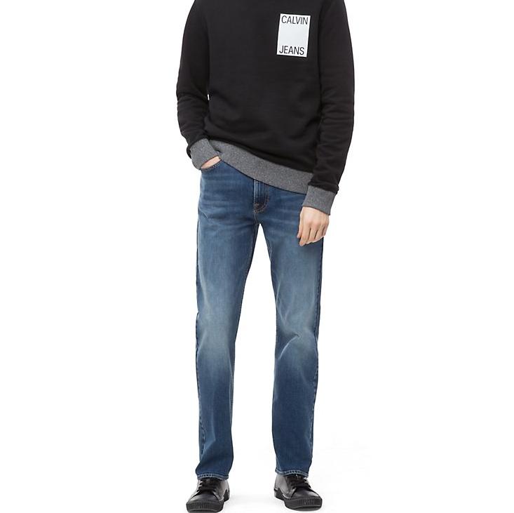 Calvin Klein 男士休閑直筒牛仔褲