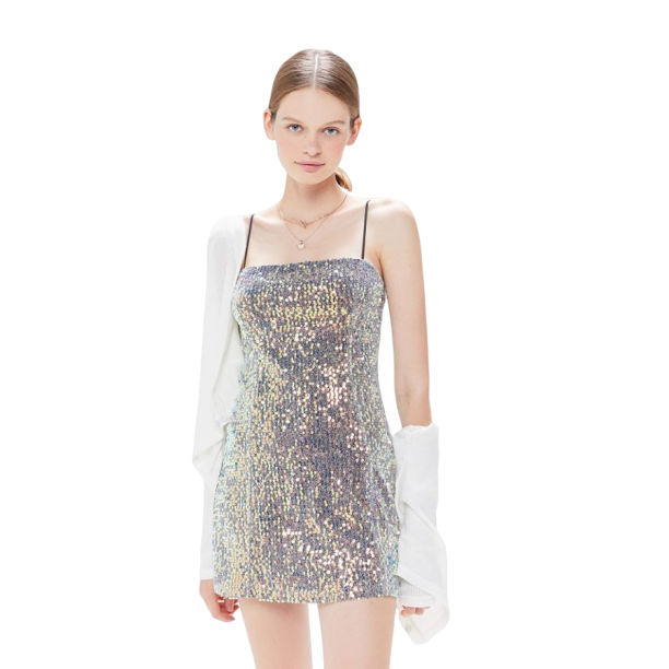 UO Kyle Sequin Mini Dress 閃片吊帶連衣裙