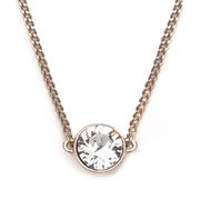【三色】Givenchy 紀梵希閃亮單鉆水晶項鏈