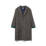 Zadig & Voltaire Macy 格紋飾口袋羊毛大衣