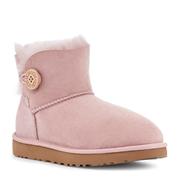 UGG Mini Bailey 粉色紐扣款雪地靴