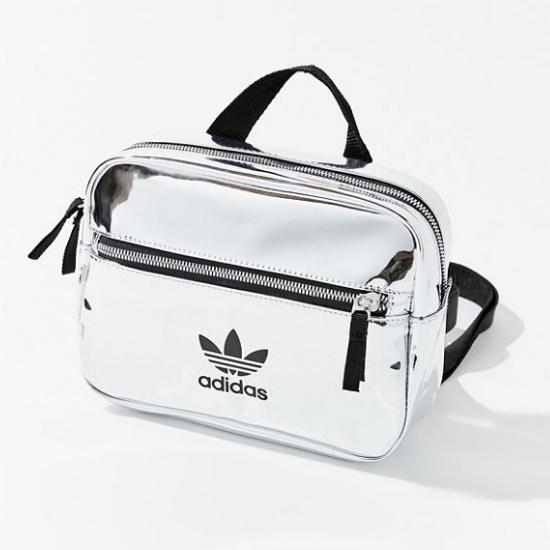 低至3折!adidas Originals 阿迪達斯三葉草 Airliner Metallic 迷你雙肩包