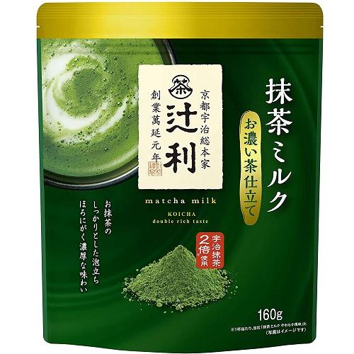 【日亞自營】【橙盒計劃】京都宇治 辻利 2倍抹茶牛奶抹茶粉 160g