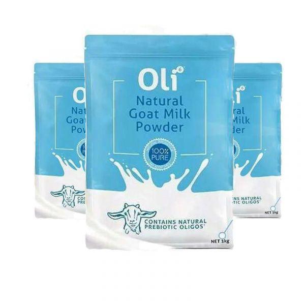 【三件包郵套裝】Oli6 天然成人羊奶粉 1kg*3袋