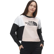 多色可選~The North Face 北面 Train N Logo Crop 女款拼接套頭衫