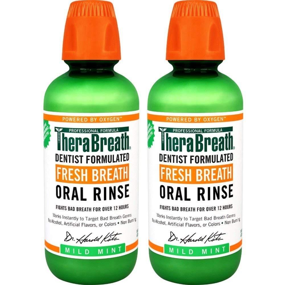 【中亞Prime會員】TheraBreath 美國凱斯博士 清新漱口水 溫和薄荷味 455ml*2瓶