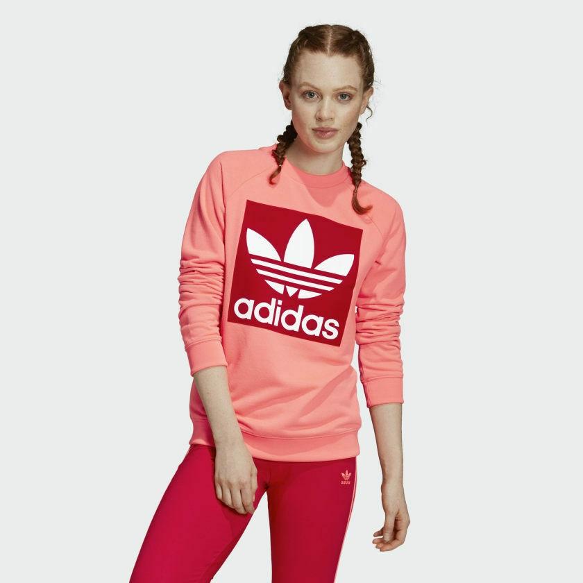 满$20额外8折!adidas Originals 三叶草 Trefoil 经典印花logo卫衣