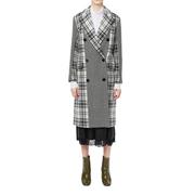 【滿額外¥8000-¥1200】MSGM 羊毛拼接格紋雙排扣外套