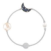 近期好價!【中亞Prime會員】Swarovski 施華洛世奇 藍色珍珠星月水晶手鏈 5490934