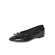 Schutz Arissa 女款黑色漆皮平底鞋