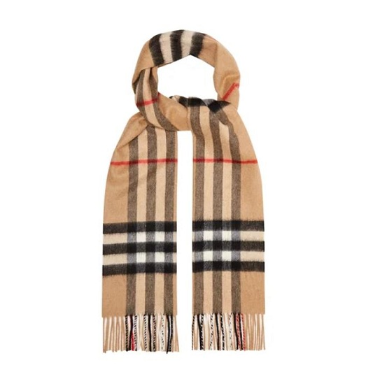 庫存淺~BURBERRY Giant 經典格紋羊絨圍巾