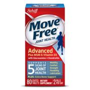 Schiff Move Free 葡萄糖胺維骨力+維他命D3 藍盒/藍瓶 80粒*2瓶