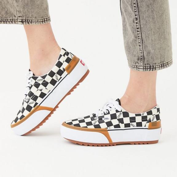 Vans 萬斯 Era Stacked Sneaker 厚底格紋帆布鞋