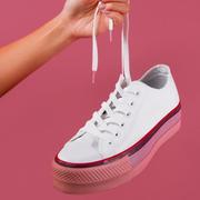Converse 匡威 All Star x OPI 聯名款 女子厚底帆布鞋