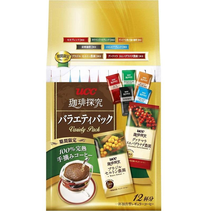 【日亞自營】【橙盒計劃】UCC 珈琲探究 掛耳咖啡 8種口味 12袋