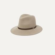 RAG & BONE 小牛毛邊飾羊毛氈費多拉帽