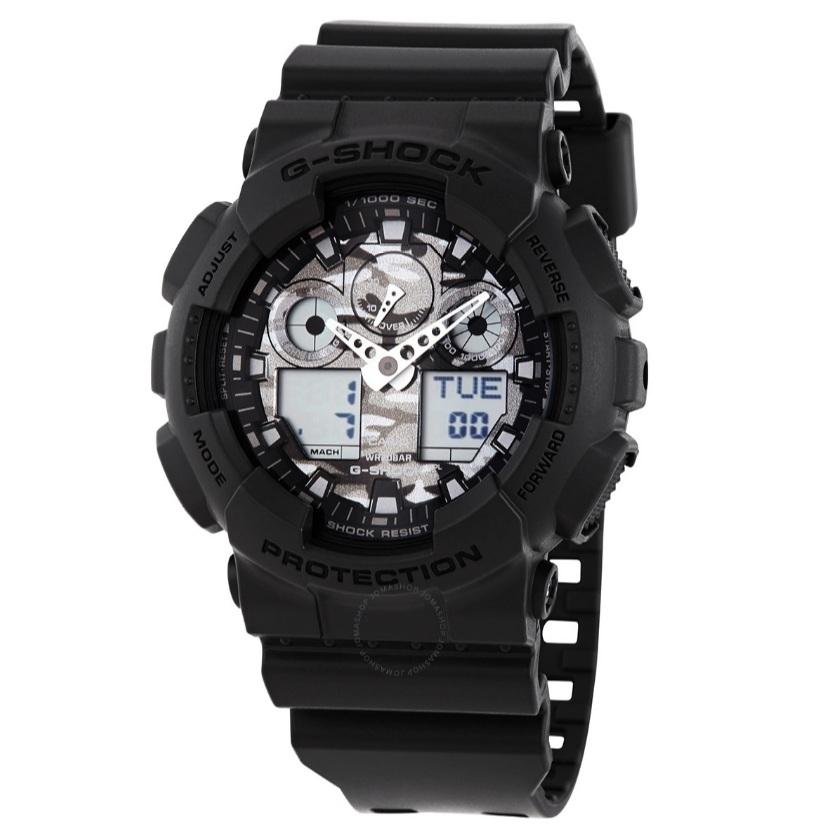 【55專享】Casio 卡西歐 G-Shock 系列 黑色男士運動腕表 GA-100CF-8ADR