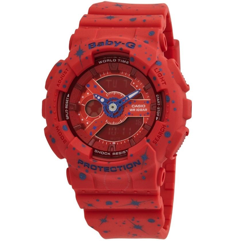 【55專享】Casio 卡西歐 Baby-G 系列 紅色女士運動腕表 BA-110ST-4ADR