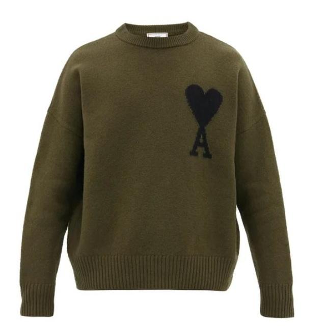 AMI Ami de C?ur-intarsia 綠色毛衣