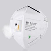 【返利7.2%】3M 9501V帶呼吸閥防霧霾口罩 3只
