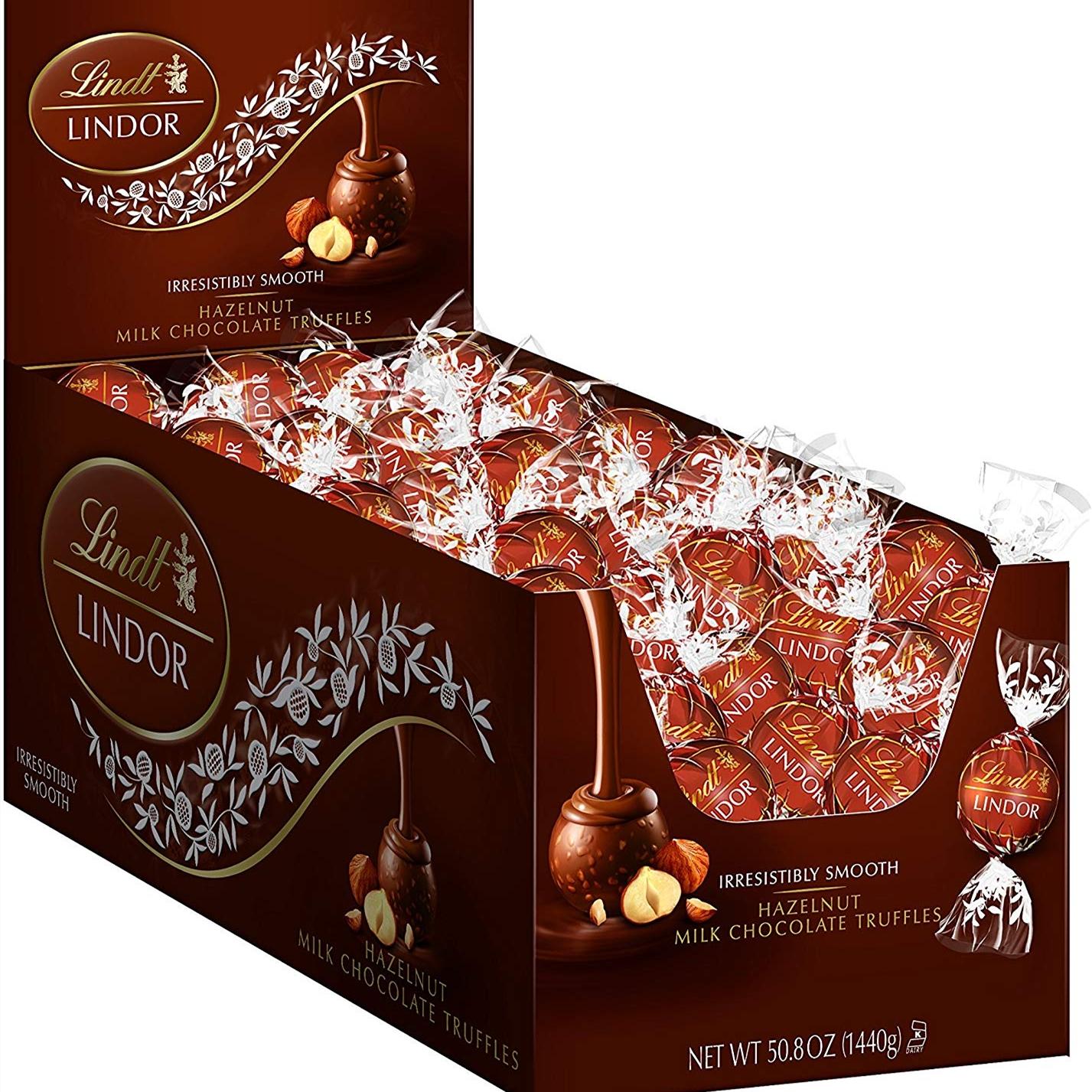 【中亞Prime會員】Lindt 瑞士蓮 LINDOR 榛子牛奶巧克力松露 120粒