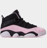 喬丹 Air Jordan 6 Rings 中童款籃球鞋 櫻花粉