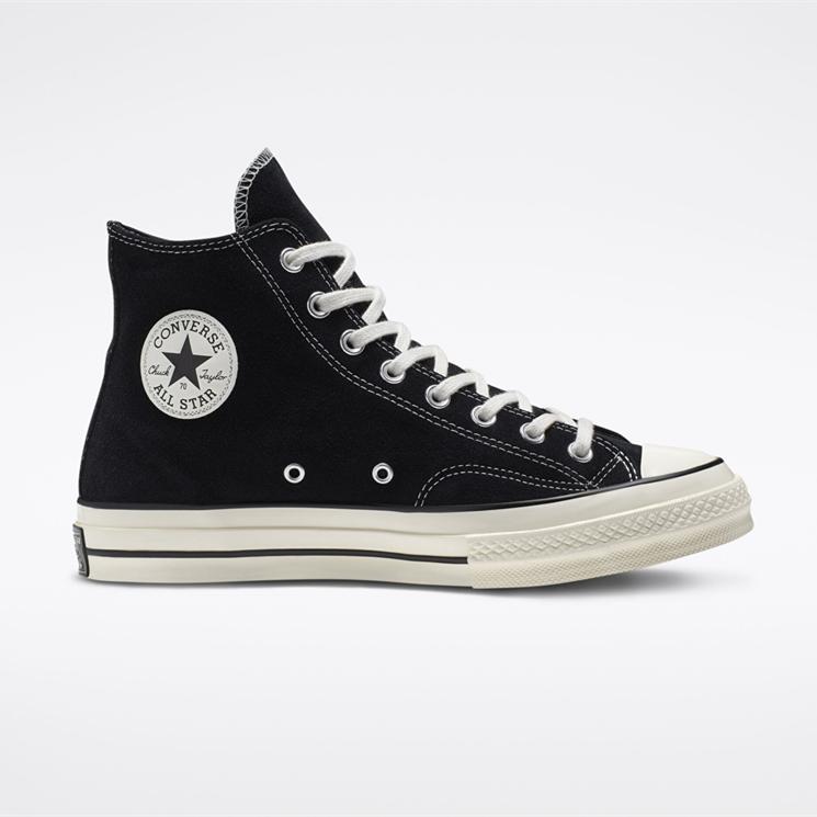 Converse 匡威 Chuck 70 黑色麂皮絨高幫鞋