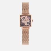 【7折】Olivia Burton 方塊蜜蜂花卉手表