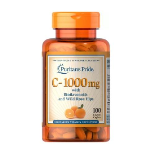 Puritan's Pride 普麗普萊 維生素C 含生物類黃酮和玫瑰果 1000mg 100粒