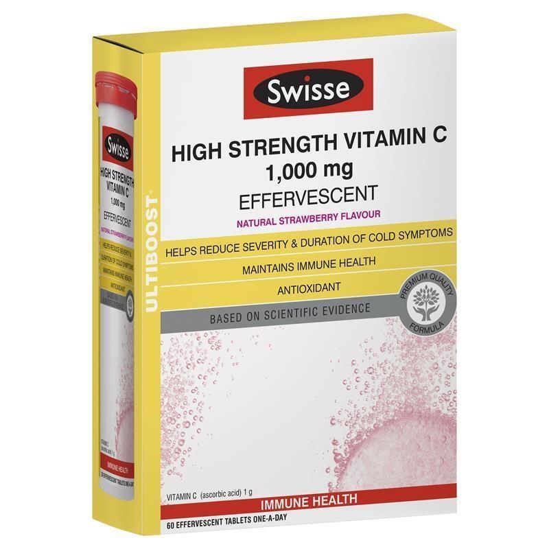 Swisse 高強度維生素C泡騰片 60片