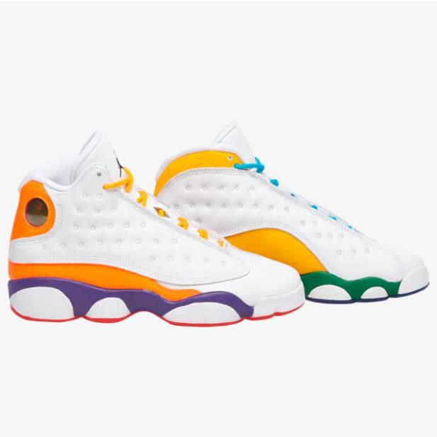 喬丹 Air Jordan Retro 13 大童款籃球鞋 橙黃鴛鴦