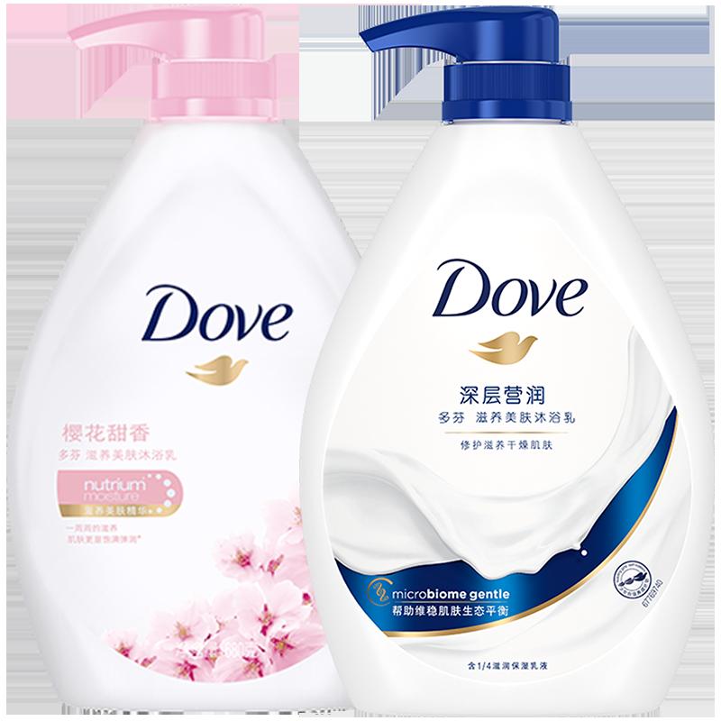 【返利14.4%】Dove 多芬 深層+櫻花滋養美膚沐浴露 680g*2