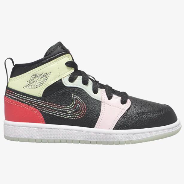 【碼全】喬丹 Air Jordan 1 Mid 中童款籃球鞋 線條