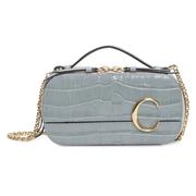 Chloé C 鱷魚紋皮革鏈條斜挎包