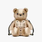 MCM 美国官网 Zoo Bear Backpack in Visetos 小熊双肩包