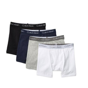 Calvin Klein Cotton Boxer Briefs 4条装童款短裤