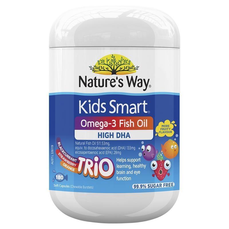 【最高滿減10澳】Nature's Way 佳思敏 兒童Omega3深海魚油膠囊 三重水果味 180粒