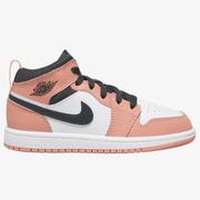 【新款】喬丹 Air Jordan 1 Mid 中童款籃球鞋 櫻花粉