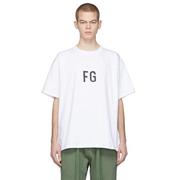 Fear of God White FG 男士 T-Shirt
